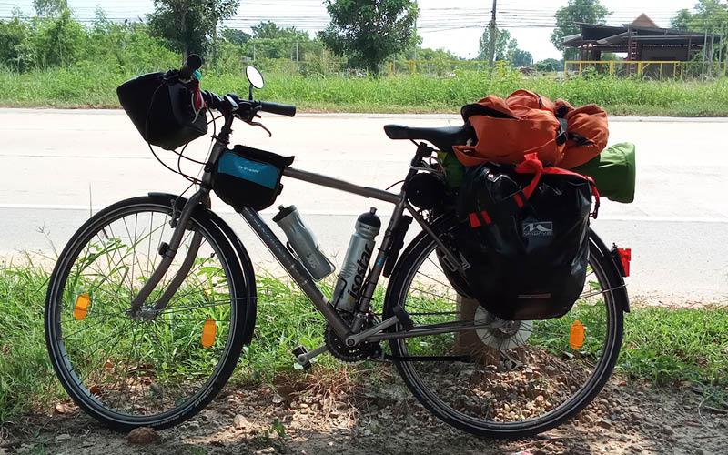 Material para un viaje en bicicleta