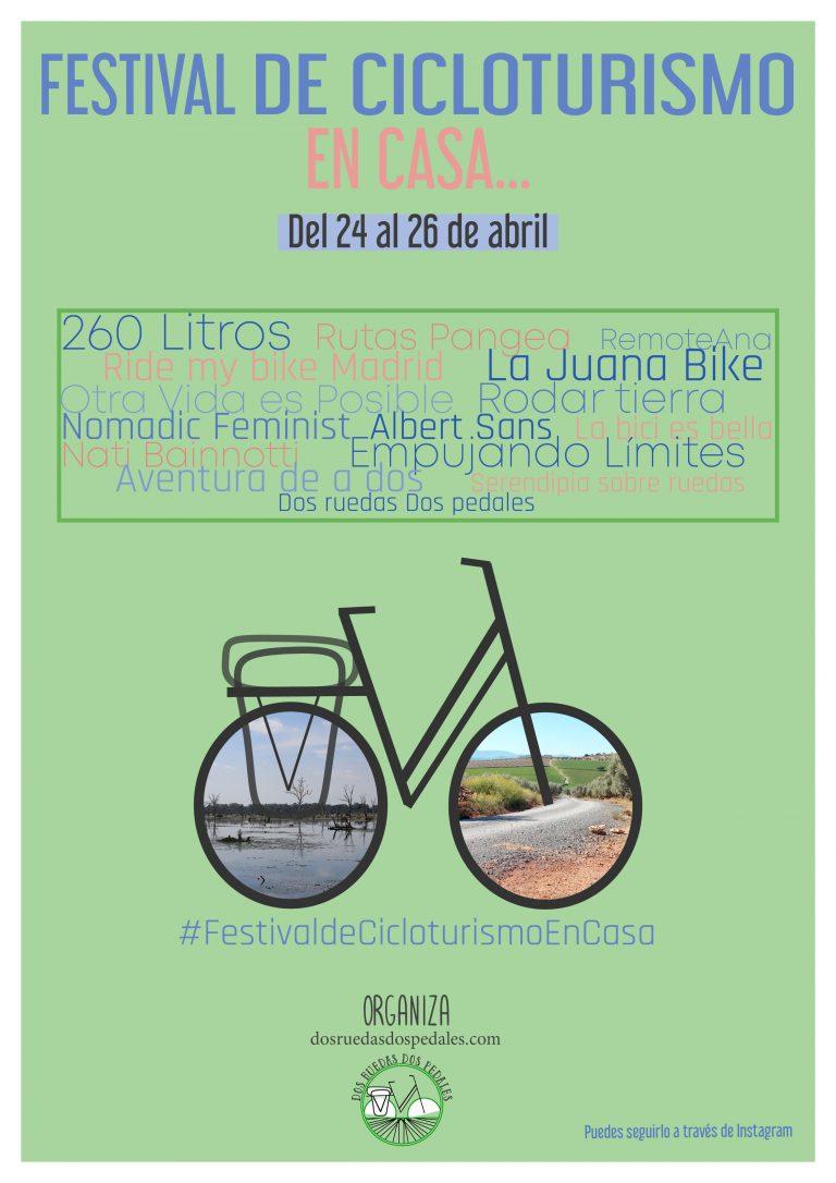 Cartel del Festival de Cicloturismo en Casa