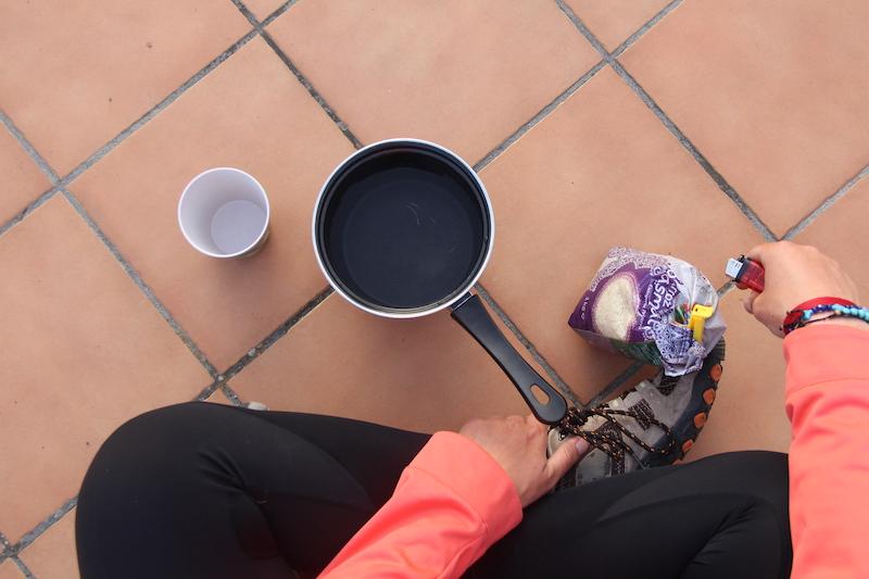 Cómo cocinar cuando viajas en bicicleta