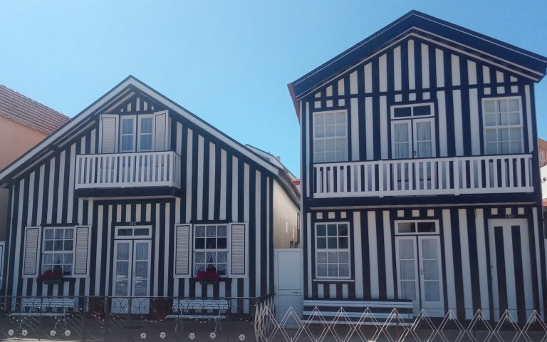 Casas de colores de Costa Nova