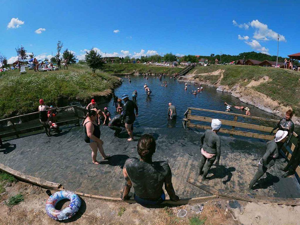 Una de las lagunas de sal de Ocna Sibuilui. Foto: Paola Berber.