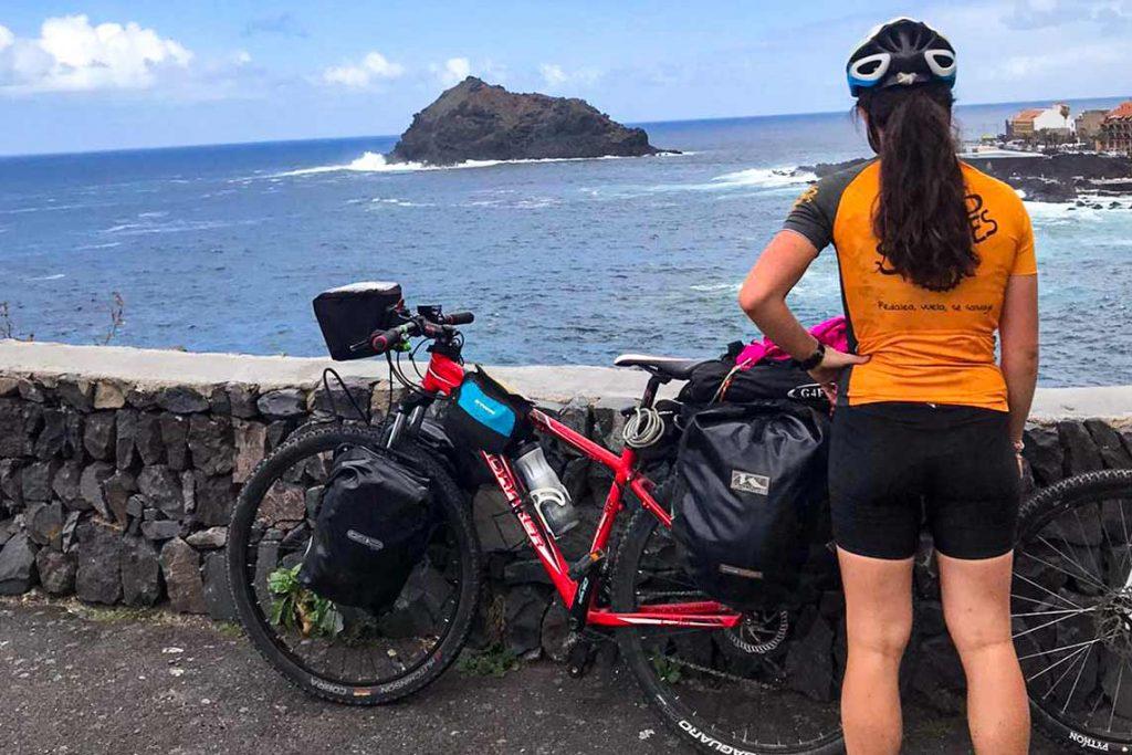 Emociones de un viaje en bicicleta