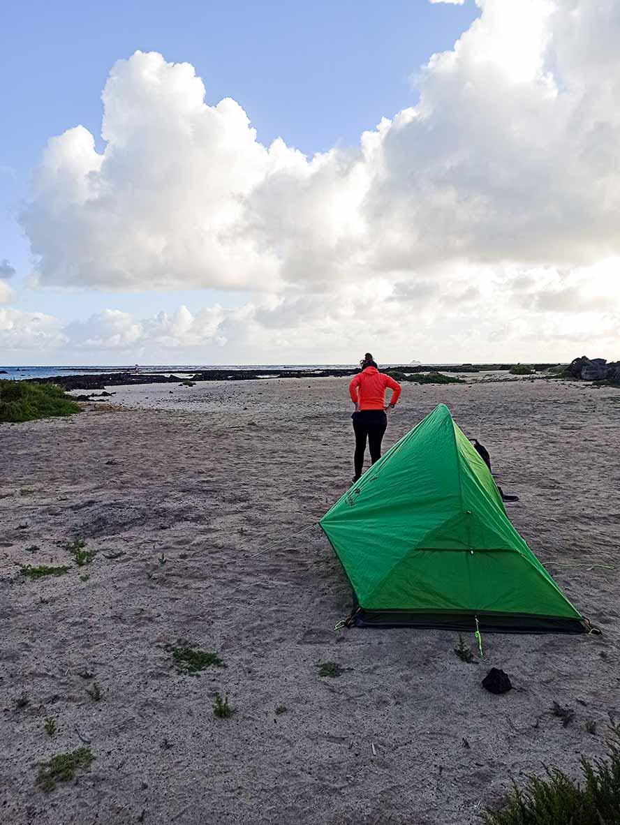Acampada libre en Lanzarote.